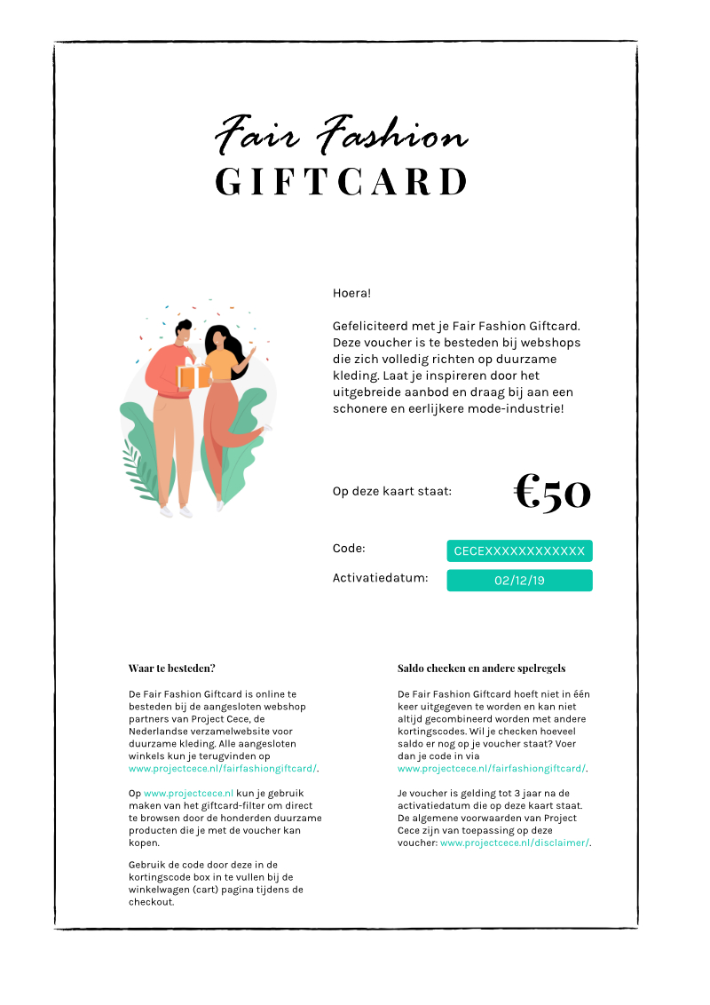 Fair Fashion Giftcard from Project Cece
